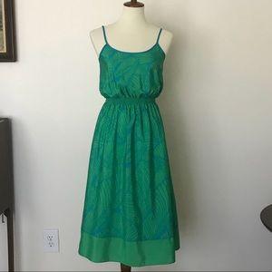 LOFT Dresses - Ann Taylor LOFT green leaf print